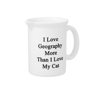 I Love Geography More Than I Love My Cat Pitcher
