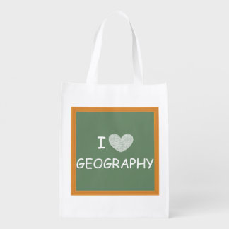 I Love Geography Market Tote