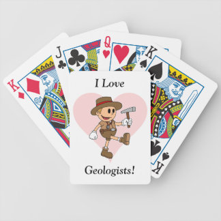 I Love Geologists! Bicycle Playing Cards