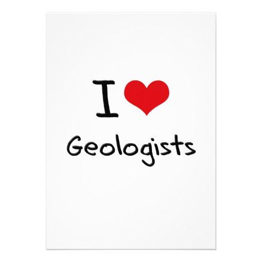 I Love Geologists Custom Invite