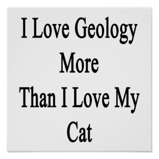 I Love Geology More Than I Love My Cat Poster