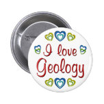 I Love Geology Pinback Buttons