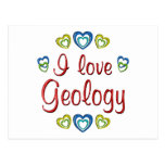 I Love Geology Post Card