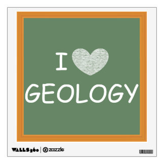I Love Geology Wall Decal