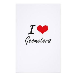 I love Geometers Stationery