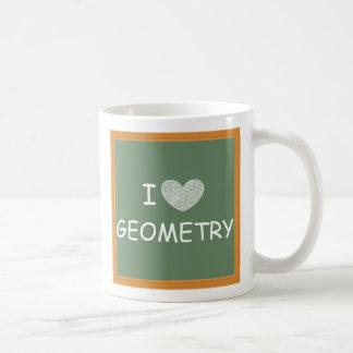 I Love Geometry Coffee Mug