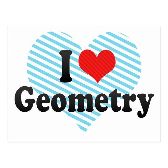 I Love Geometry Postcard
