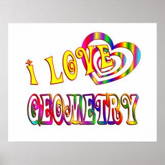 I Love Geometry Poster