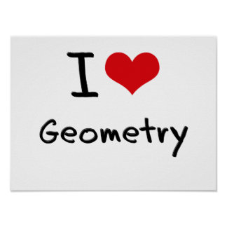 I Love Geometry Poster