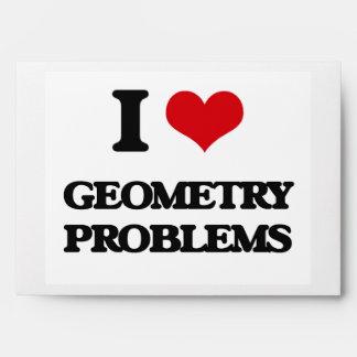 I love Geometry Problems Envelopes