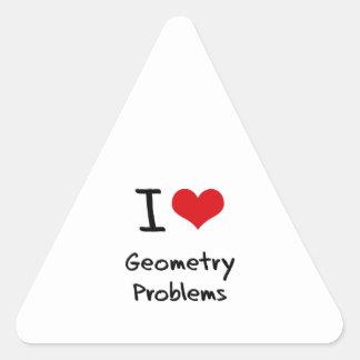 I Love Geometry Problems Triangle Sticker