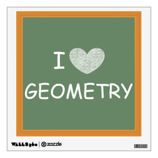 I Love Geometry Wall Sticker