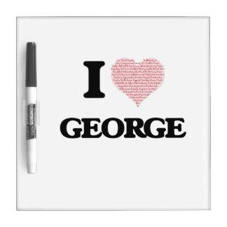 I Love George Dry Erase Whiteboard