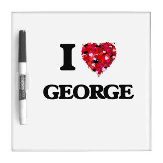 I Love George Dry-Erase Whiteboard