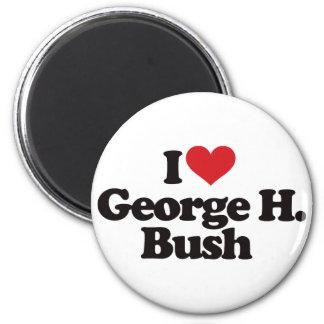 I Love George H Bush Magnets