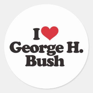 I Love George H Bush Stickers
