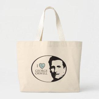 I Love George Orwell Tote Bag