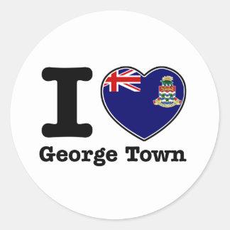 I love George Town Classic Round Sticker