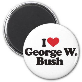 I Love George W Bush 2 Inch Round Magnet