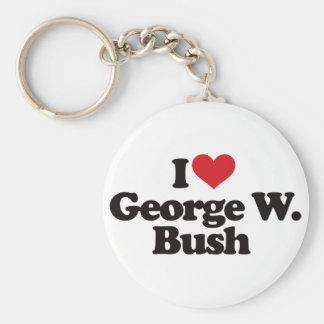 I Love George W Bush Keychain