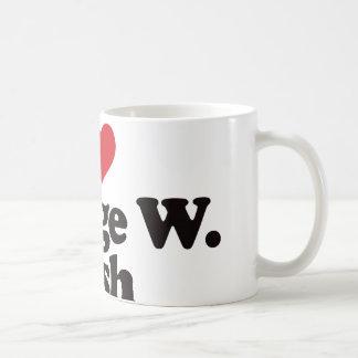 I Love George W Bush Coffee Mugs