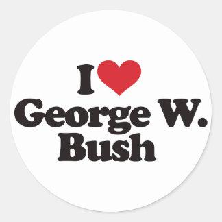 I Love George W Bush Sticker