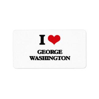 I love George Washington Address Label
