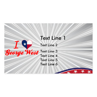 I Love George West, Texas Business Card Templates