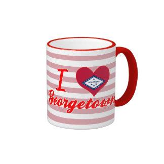I Love Georgetown, Arkansas Ringer Coffee Mug
