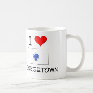 I Love Georgetown Massachusetts Classic White Coffee Mug