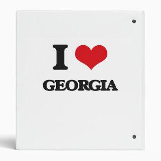 I Love Georgia 3 Ring Binder