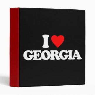 I LOVE GEORGIA VINYL BINDER