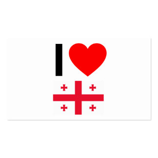 i love georgia Double-Sided standard business cards (Pack of 100)