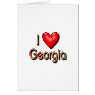 I Love Georgia Card