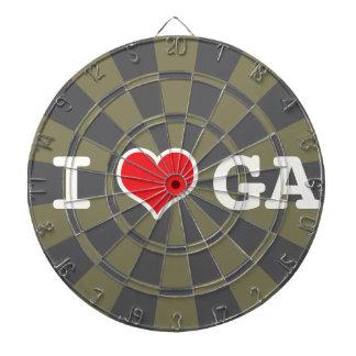 I Love Georgia Charcoal Gray Dart Boards