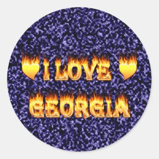 I love georgia fire and flames stickers