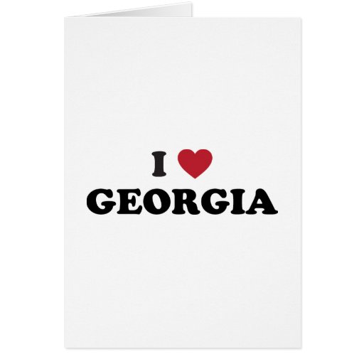 I Love Georgia Greeting Card