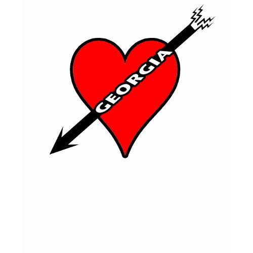 I love Georgia heart t-shirt