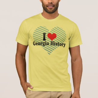 I Love Georgia History T-Shirt