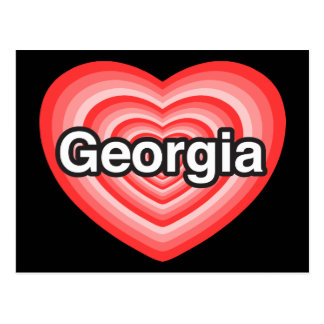 I love Georgia. I love you Georgia. Heart Postcard