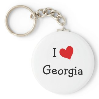 I Love Georgia keychain