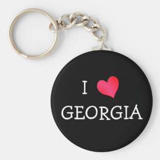 I Love Georgia Keychain