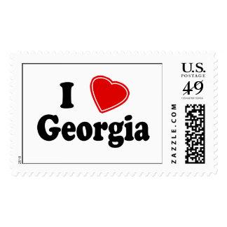 I Love Georgia Stamps