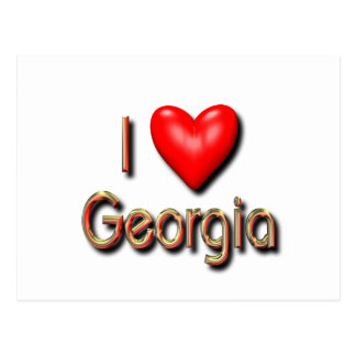 I Love Georgia Postcard