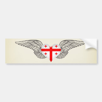 I Love Georgia -wings Bumper Stickers