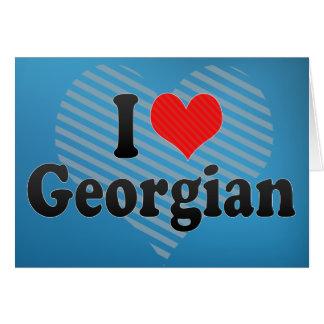 I Love Georgian Card