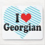 I Love Georgian Mouse Pad