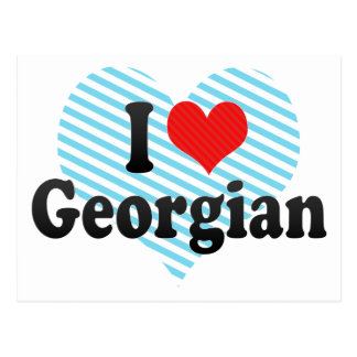 I Love Georgian Postcard