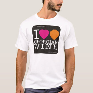 I love Georgian Wine - black logo T-Shirt