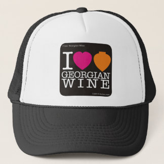 I love Georgian Wine - black.png Trucker Hat
